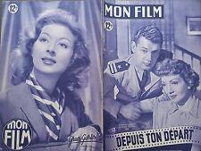 """MON FILM 1949 N 137  """" DEPUIS TON DEPART """": CLAUDETTE COLBERT et JOSEPH COTTEN"""