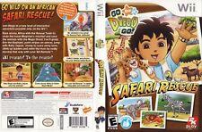 Go Diego Go Safari Rescue Nintendo Wii COMPLETE CIB LikeNew Wild African Safari
