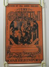 Vintage Poster Try Opium 1960's Gawdawful Drug Pin-up Psychedelic 60's Orient