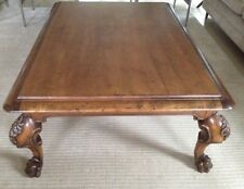Beautiful Ralph Lauren POLO Carved Solid Wood Coffee Cocktail French Style Table  Brown NY