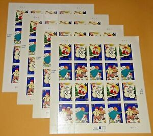 Four x 20 = 80 Of CHRISTMAS COOKIES 37¢ US USA Postage Stamps. Scott # 3949-3952