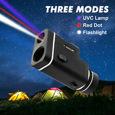 10×30 Spotting telescope W/ Electric Spotlight Laser Ranging Flashlight F Hiking