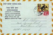 VIETNAM 1973 PS AEROGRAMME FROM SAIGON TO USA