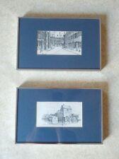 2 FRAMED C.M. GOFF Artwork Reproduction, Etching Dealer or Reseller and Signed