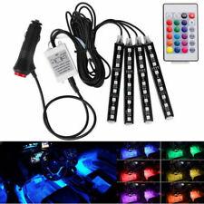 7 Color RGB LED Neon Strip Light Music Remote Control For Car Interior Lighting