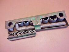 Vintage INDESTRO Allen Socket Set Green Metal Case Vintage Mechanics Tool Set