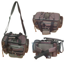 Canvas Fishing Bag Large Capacity Lure Fishing Tackle Pack Outdoor Shoulder Bags