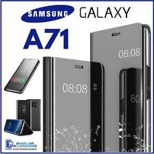 COVER FLIP PER SAMSUNG GALAXY A71 CUSTODIA LIBRO A SPECCHIO CLEAR VIEW 360° A 71