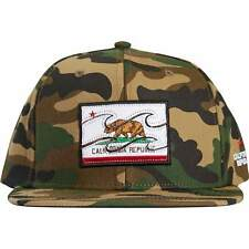 BILLABONG Native Camo Mens Hat (NEW) California Republic CAL BEAR Snapback Cap