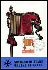 MALTESERORDEN SMOM S.M.O.M. MK 1967 FLAGGE BANNER FLAG MAXIMUM CARD MC CM cv15