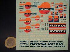 "DECALS 1//24  LOGOS /"" REPSOL /"" VIRAGES  T131"