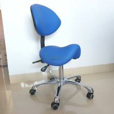 Crown Seating Dental Assistant Stool Saddle Style Seat with PU Leather