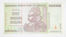 RARE 2008 50 TRILLION Dollar - Zimbabwe Note - 100 Series *966
