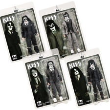 KISS 8 Inch Action Figures Dressed To Kill Re-Issue Series: Set of all 4