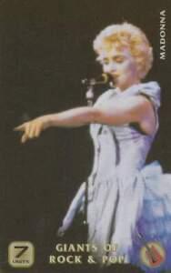 Telefoonkaart / Phonecard ongebruikt prepaid - Madonna (R48)