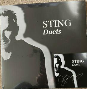 Sting Autograph - The Police - Duets - Double Vinyl Album & Signed Insert- AFTAL