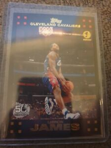 2007-08 Topps 1ST EDITION Lebron James NBA basketball card 066/119 - rare