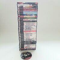 Lot Of 35 PlayStation 2  Games: Guitar Hero, Sports, Marvel, Drift  PS2