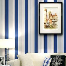 Free Shippng 9.5m Wallpaper Blue Stripe on White Wallpaper Roll Living Room 067