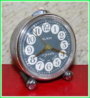 Modern Mechanical Alarm Clock Slava 11 Jewels Russian USSR Soviet 1980s #11020