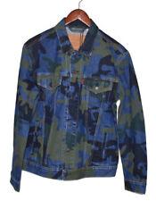 Levi's Premium Quality Men's Denim Camo Trucker Jacket Size M MSRP $98