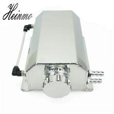 Universal 2L Aluminum Car Engine Oil Catch Tank Can Reservoir Tank 2000ML Silver