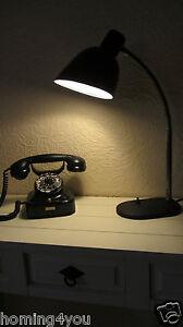 Nolta-Lux Christian Dell Tisch Lampe Schreibtisch- Bauhaus Schwanenhals Emaille
