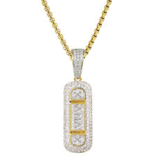 Xanax GG249 Pill Box Pendant Full Iced Out 14k Yellow Gold Finish Necklace Set
