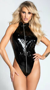 One Size Fits Most Womens Out Of Control Latex Teddy Set