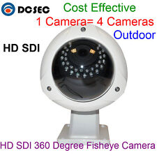 Outdoor HD SDI Camera Fisheye 360 Degree Len 1080P 2.0 Megapixel Panorama camera
