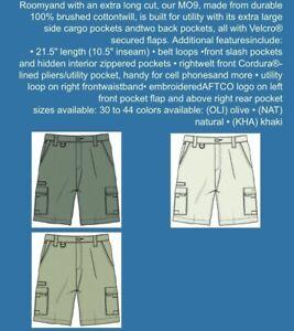 Mens Guy Harvey Aftco Bluewater Fishing Shorts Khaki Size 40