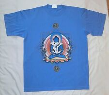 Amorous Buddha large blue t-shirt