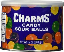 Charms Sour Balls Hard Candy Tin - 12 Oz Can - Assorted Flavors Peanut Free