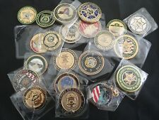 50 CHALLENGE COINS LOT LAW Enforcement AGENCIES  & MILITARY $4.50 EACH SHIP FREE