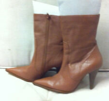 STYLISH ZOE WITTNER BROWN LEATHER ANKLE BOOTS SIZE: 38.5 NEAR NEW