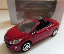 """Peugeot 308 CC Rouge 1/64 """"3 Inche"""" Diecast NOREV Produit NEUF !!"""