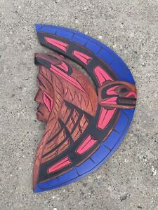 Pacific Northwest Coast Carved Painted Plaque By Herman Peter