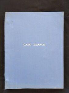 Cabo Blanco 1980 Movie Script Call Sheet Charles BRONSON Gilbert ROLAND D. SANDA