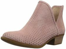 Lucky Brand Womens Baley Leather Closed Toe Ankle Fashion Boots, Blush, Size 8.5