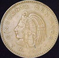 1957 VF Mexico 50 Centavos - KM# 450 - DM