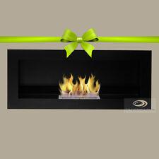 BIO ETHANOL FIREPLACE *Jubilance* 800x350x120 BLACK MATT WALL FIRE BURNER+ FREE