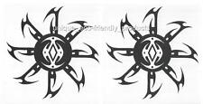 LOT 2 TRIBAL SUN, DISK, THORNS BLACK AWESOME ON!  Temporary Tattoo