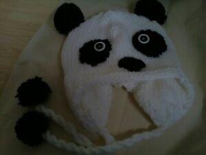 Panda Knitted Hat