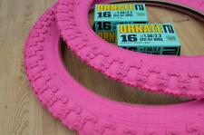 """New PINK Kids Bicycle Tires and Tubes 16 x 2.125 Fits 1.75 1.95 BMX 16"""" Girls"""