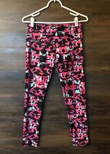 NOLI Yoga High Waisted Pink Colorful Camo Print Spandex Leggings Women's Size M