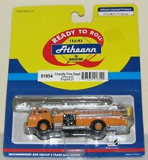 Athearn County Fire Department Telesquirt Engine #21~New Old Stock~Ho Scale