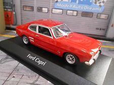 FORD Capri 1 MKI COUPE RED ROSSO GT 1969 NUOVO MAXI Champs Minichamps 1:43