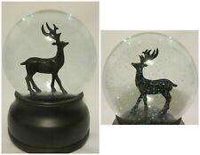 Reindeer Snowglobe Holiday Christmas Winter Decor Heavy Metal Music Box Musical