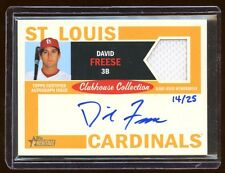 DAVID FREESE TOPPS HERITAGE AUTO JERSEY /25 MINT CLUBHOUSE COLLECTION  CARDINALS