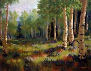 "Roger Williams ""Aspen Meadow""  open edition - Aspen Woods in the Early Fall"